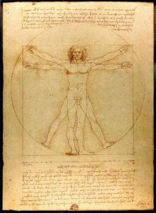 Hombre de Vitruvio - Leonardo da Vinci