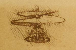 Tornillo aéreo o helicóptero de Da Vinci