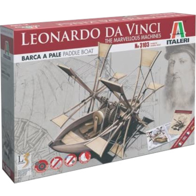 Barco de palas de Leonardo da Vinci (Italeri)