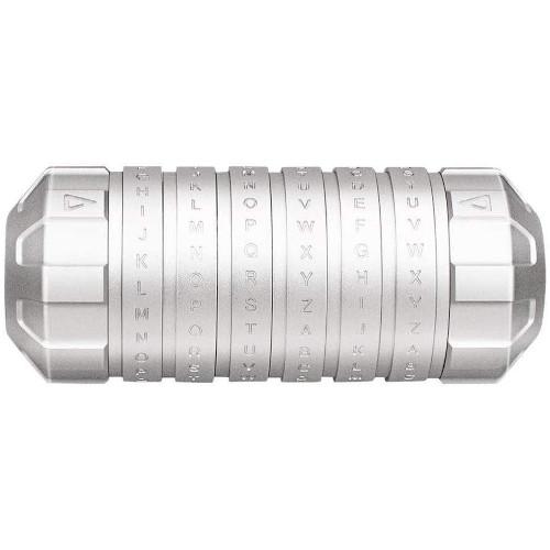 Cryptex de aluminio plata
