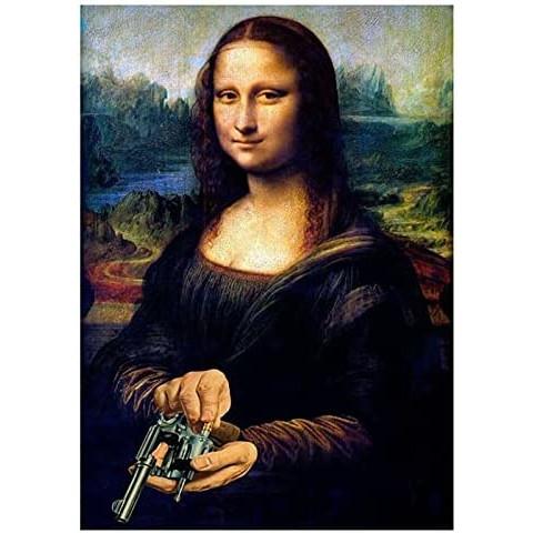 Puzzle de la Mona Lisa con pistola